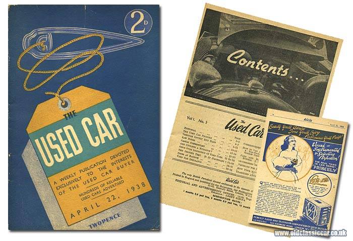 A pre-war copy of The Used Car magazine