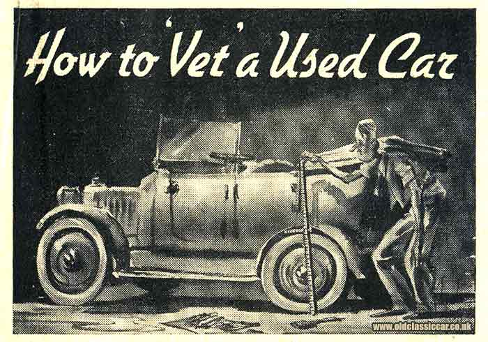 An article on vetting a used car