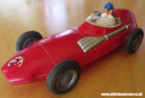 A red example of the Vanwall toy cars
