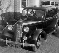 Postwar Vauxhall Fourteen car