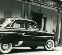 A Vauxhall Cresta of 1955 or 1956