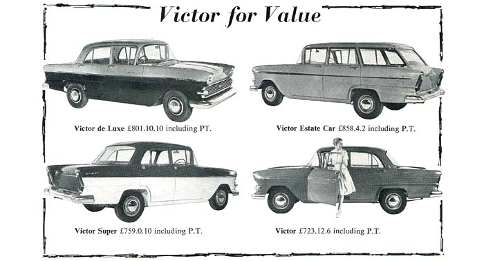 Series 2 Vauxhall Victors for 1961