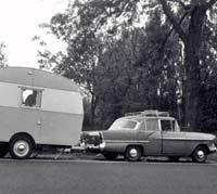 Victor towing a caravan