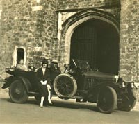 The pre-war Vauxhall parked at Knoll Park in Kent