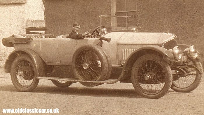 A vintage Crossley car