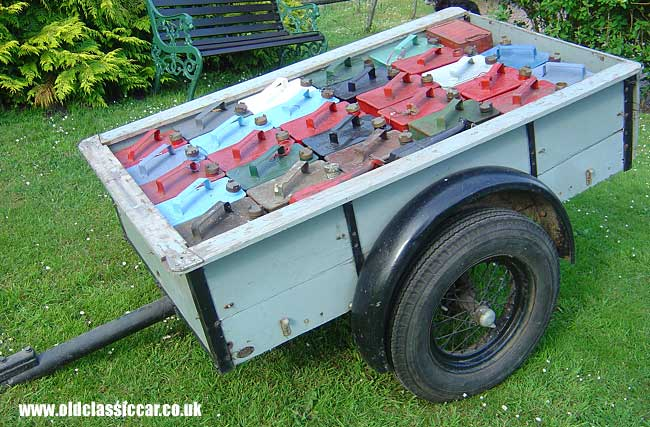 Vintage small folding cargo trailer