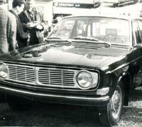 Volvo 144 saloon car at a show