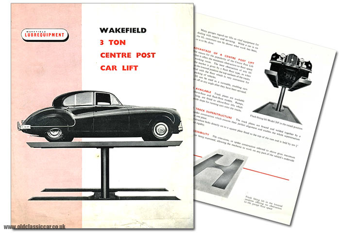 Jaguar Mk7M on a car lift