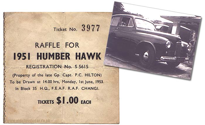 Raffle for a Humber Hawk car