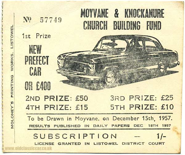 Ticket to win a Ford 100E Prefect