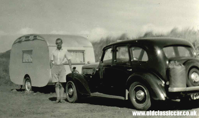 One Wolseley car plus a caravan
