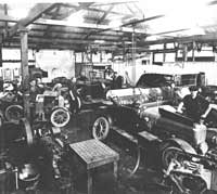 Vintage car workshop