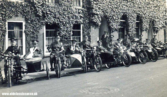WW1 motorcycles