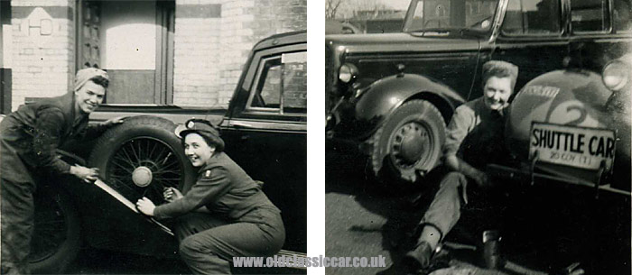 WW2 Humber staff car and ATS mechanics