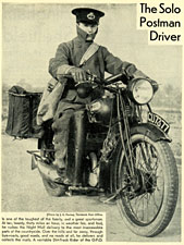 1929 BSA motorcycle used by the GPO