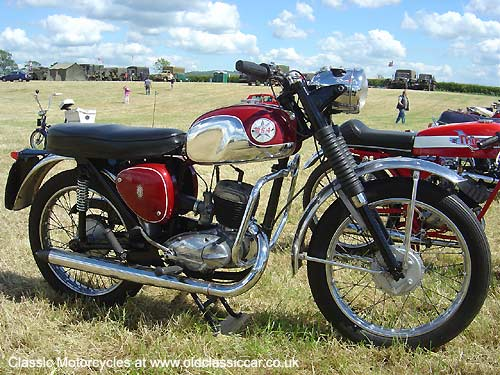1950s BSA motorcycle picture
