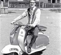 A rider on his Lambretta