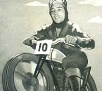 Scene depicting a rider on a motorcycle