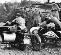 Vintage motorcycle & sidecar trial