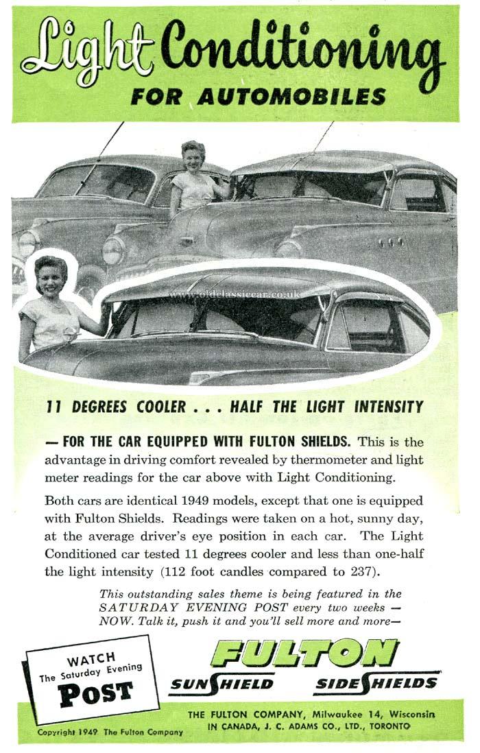 Exterior sun visors for classic cars. 3758046023f
