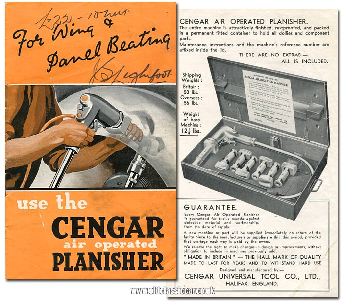 Leaflet for this car body repair tool from Cengar