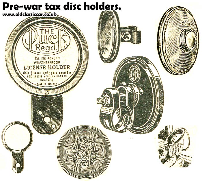 Holders used in pre-war cars