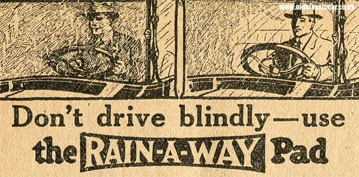 The Rain-a-way windshield pad