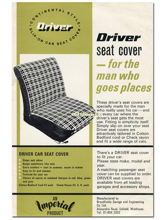 Imperial seat cover leaflet