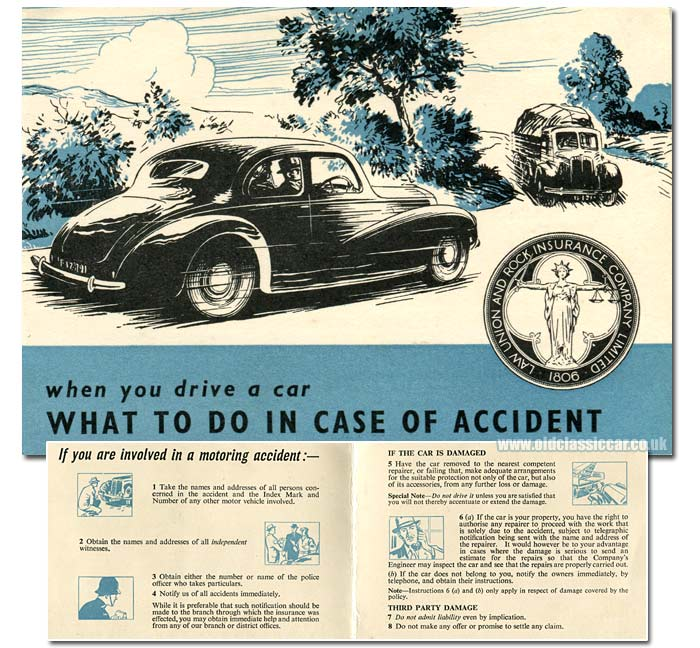 Road accident leaflet from the 1950s