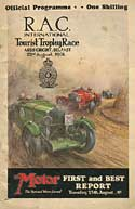 Ards TT race programmes for 1931 - 1934