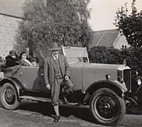 Andy's grandfather with the car