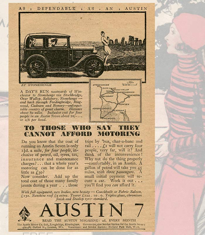 Advert for the 1931 Austin 7