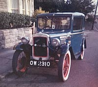 Front view of the Austin Seven in 1962