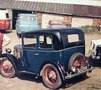 Rear view of the Austin 7