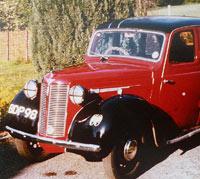 Austin 8 four-door saloon car.