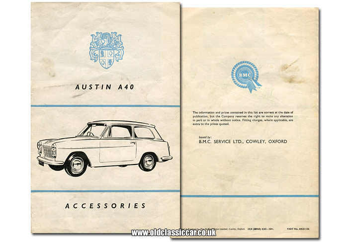Cover of this accessories leaflet