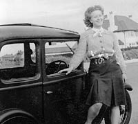Keith's mother with the Austin 7