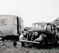 1937 Austin 10 and a caravan