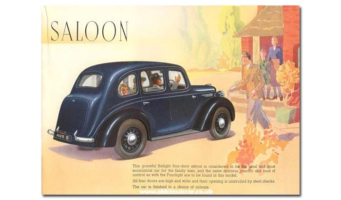 Inside the Austin 8 sales brochure