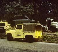 The Austin with Land Rover and Leyland Comet lorry