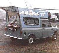 Converted Mini pickup into a hotdog van