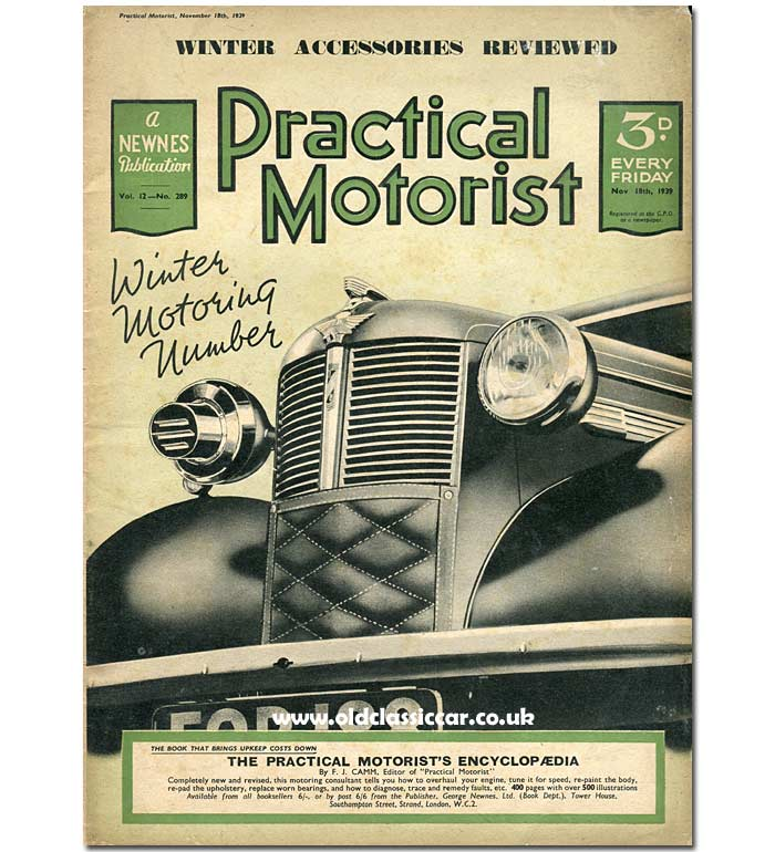 Practical Motorist features an 8 on its cover in November 1939