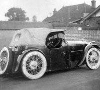 Austin Seven Ace/special rear view