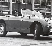 Austin-Healey Sprite on an auto-test
