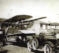Austin Whippet aeroplane and a Perry car