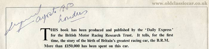 Another signature on a BRM publication