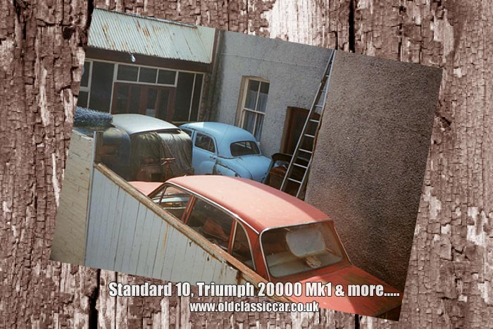 Standard 10 and Triumph 2000 found