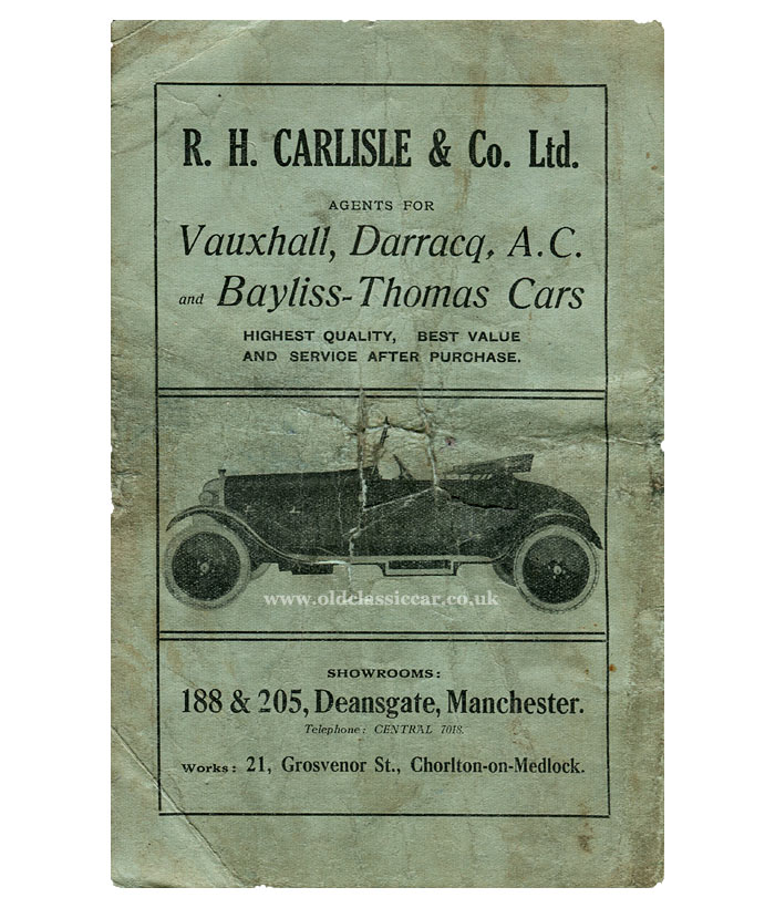 Dealer for Bayliss Thomas and AC Cars in Manchester