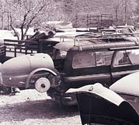 Bedford CA racing car transporter
