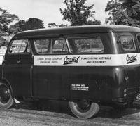 Rear corner view of a CA minibus